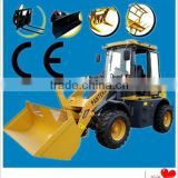 Russina,Brazil,European hot C ummins engine good mini powerful model new extend boom compact front wheel loader 1.2 tons ZL12