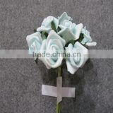 artificial colourfast 6cm baby blue foam rose flower