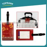 Toprank Customzide Your Own Design Brand PVC Luggage Tag Blank Hang Name Tag Baggage Travel Luggage Tag