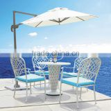 durable outdoor furniture garden set wholesale white cast aluminium bistro dining table and chairs