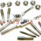 Machine taps, hand taps, round dies, spiral fluted taps, Ti coated taps, tap wrench, die handle, screw extroctor