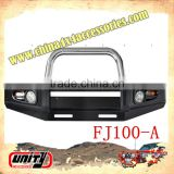 4WD accessories parts top quality Frontal bull bar bumper for FJ cruiser 100 WITH LAMP & STONE GUARD