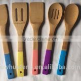 High quality color handle bamboo spoon for home use
