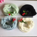 cashmere black color fashion winter knitted factory produce fashion circle round scarf