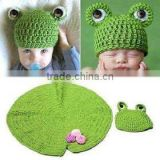 crochet frog baby hat and diaper cover set