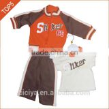 High quality custome winter fleece baby clothing sets fancy design boutique baby boy's pajamas