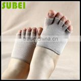 Men and women pure cotton five open toe anti-bacterial cotton socks