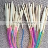 18Pcs/set 40cm Cheap Colorful Plastic Circular Nature Bamboo Circular Knitting Needle Set