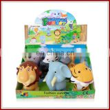 Wholesale 6 kinds mixed vinyl cartoon zoo animal toys