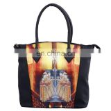 Hot Sale Custom Oem Fashion Elegant Mugal Printed New Korean Canvas Hot Lady Digital Printing Casual Handbag/Shoulder Bag/Purse