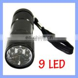 9 LED UV Flashlight 390-395nm