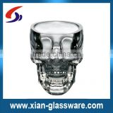 Promotional wholesale doomed crystal skull shot glass/skull head vodka whiskey shot mini glass