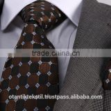 Brown Checked Necktie set with pocket square, neck tie, corbata, gravate, krawatte, cravatta, fashion tie