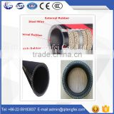 Industrial hydraulic rubber hose flexible hose with flange end high pressure rubber hose