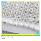 Rhinestone Plastic Chain Sew on Stick on White Banding Ss6 2mm 200 Pcs Crystal 10 Yards