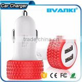2016 new design tire shape 5V3.1A high quality and cheap mobile phone usb car charger with 2 ports for promotion china supplier                                                                         Quality Choice