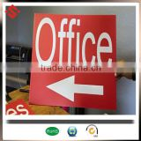 corrugated plastic for signs with wire H stake holder