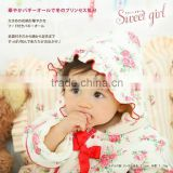 Japanese wholesale products high quality cute and flower pattern velour baby girl winter dresses