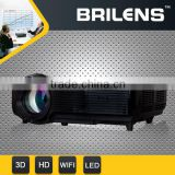 BRILENS CL1280 CiCi 1280X768 2000 lumens car led 3d gobo projector power supply,mobile phone mini lcd projector HD 720P