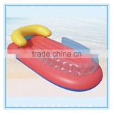 Water floating mats, inflatable swim air mat with back cushion