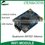 2T2R 802.11a wireless module usb dual band 2.4GHz & 5.8GHz AR1021 atheros usb 2.0 wifi module