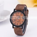 M020-1 Simulation Wooden Men Watches Wood Color Leather Strap Watch Antique Wrist watches Clock Men relojes hombre