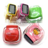 hot selling transparent multifunction mini sports precise pedometer