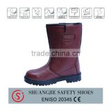 S3 certificate high cut steel toe safety shoes work shoes brown color safety boots for workers