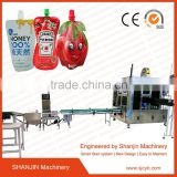 full automatic Liquid detergent doypack standing up bag/pouch filling capping packing machine