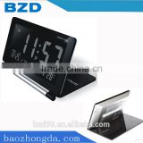 Promotional Multi-functional LCD Display Folding Flip Travel Alarm Clock with World Time/ Electronic items Manufacturer OEM/ODM
