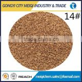 Raw material walnut shell particles as sand filter media