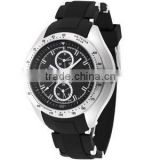 watches men custom logo face chronograph dial stainless steel watch men watches stainless steel watch with silicone rubber band