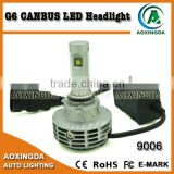 G6 7th G no error code LED headlight 9006 HB4 fanless all in one hotselling new led headlight