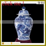 Jingdezhen High Temperature Fired Large Round blue&white Ceramic Porcelain Ginger Jars