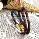 2016 leather bracelet wholesale Imitation stingray leather bracelet leather cuff bracelet