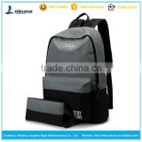 Wholesale OEM & ODM cheap durable travel canvas 2 pcs set backpack                                                                         Quality Choice