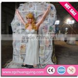 3.5m amusement park fiberglass cartoon sculpture