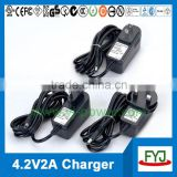 4.2v battery charger 2a charger for lithium polymer battery pack eu us uk au plug YJP-042200