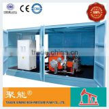 High pressure jet grouting machine for oil field