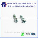 stainless steel screw cross recess black zinc phillips pan washer head self tapping screw