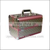 Professional Aluminium Pink Rose Beauty Make Up Nail Cosmetic Box Vanity Case ZYD-HZ291