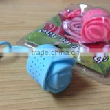 2015 Hot selling Colorful 100% food grade Silicone Rose Flower tea strainer