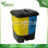 20liter double foot pedal plastic rubbish waste bin