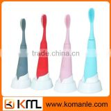 High quality led kids toothbrush flash rubber bristle toothbrush