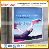 Hot sale led sign fabric snap open aluminum light box to make outdoor advertising frames