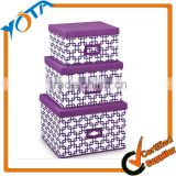 Non Woven Fabric Cabinet Three Layers Foldable Makeup Storage Box with Your Own Design Box                                                                         Quality Choice
