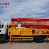 mini trailer concrete pump with boom /Dowin truck mounted concrete pump