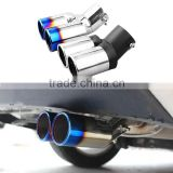 New Car Dual Twins Double Rear Exhaust Muffler Tail Pipe Tail Throat Muffler Tip For Kia Rio 2012 2013 2014 2015 Accessories                                                                         Quality Choice