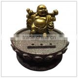 Chinese Golden Color Traveling Buddha,happy buddha statue ,luckly buddha Incense Sticks Holder