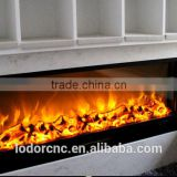 steel led electric fireplace heater